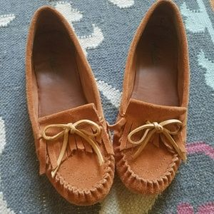 Lucky Brand Suede Moccasins